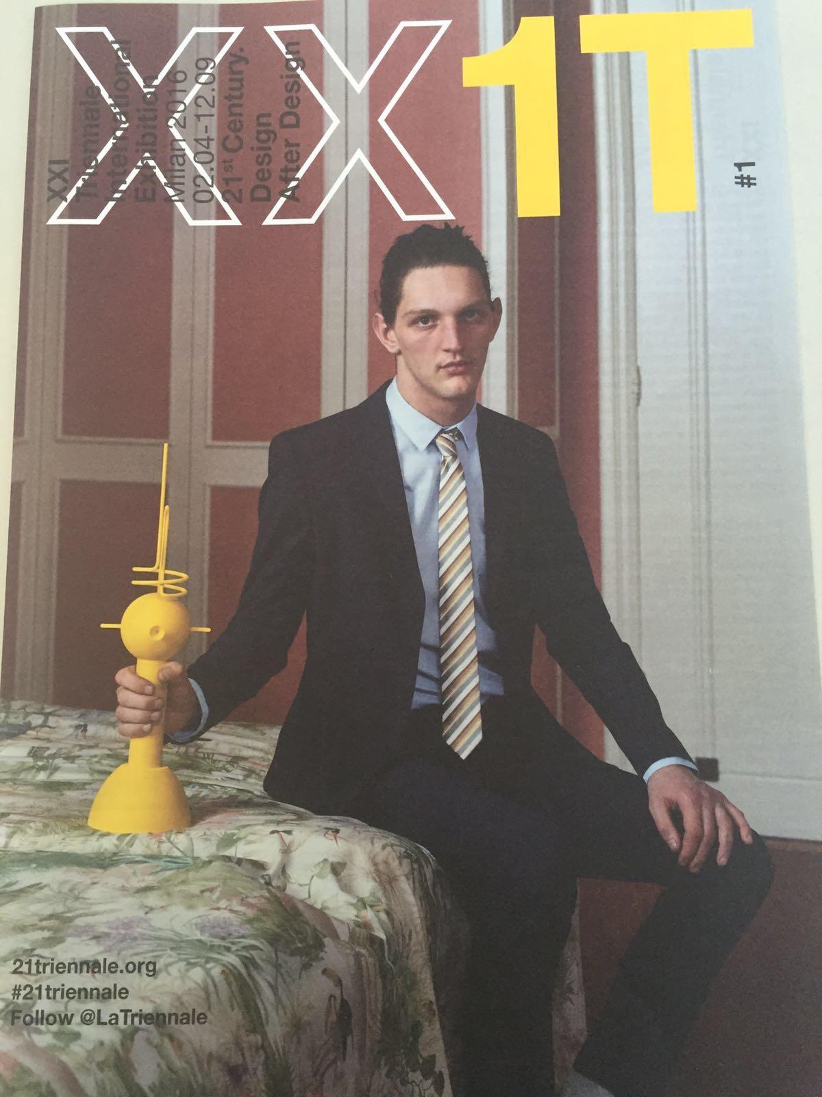 copertina del numero 1 del magazine della XXI Triennale - Camillo Milko Pennisi